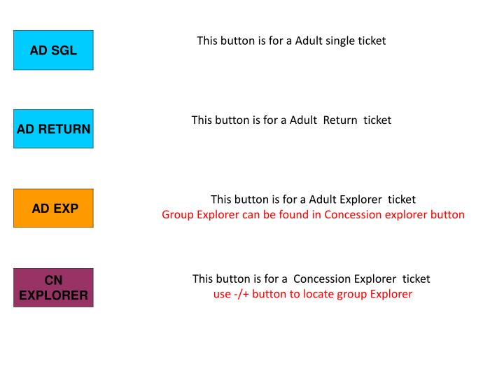 This button is for a Adult single ticket
