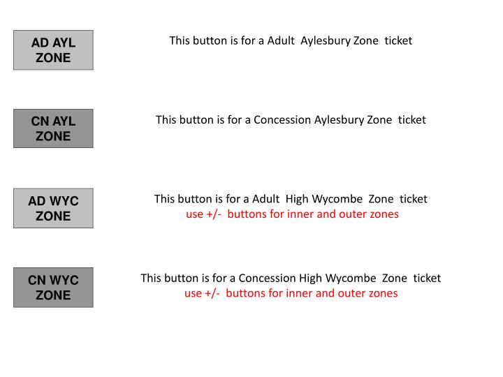 This button is for a Adult  Aylesbury Zone  ticket