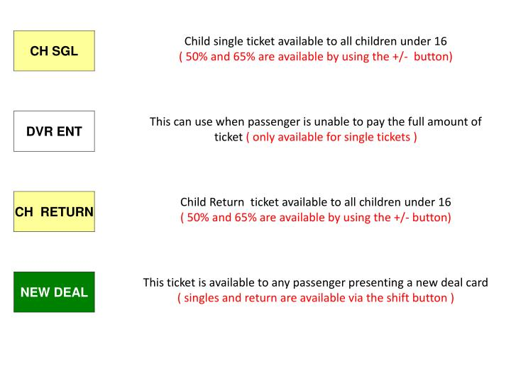 Child single ticket available to all children under 16
