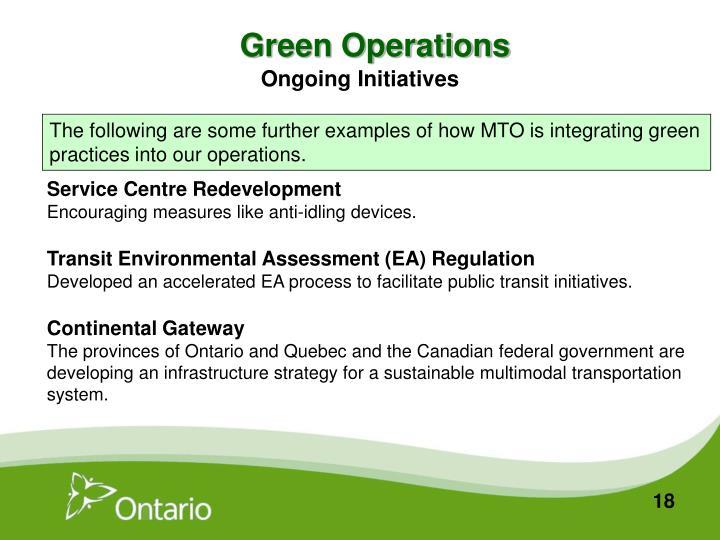 Green Operations