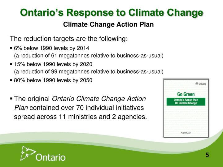 Ontario's Response to Climate Change