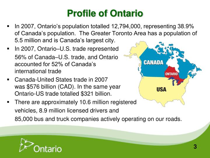 Profile of Ontario