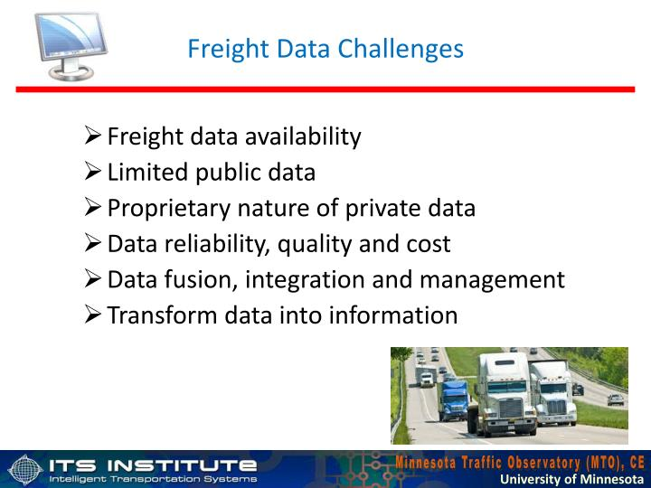 Freight Data Challenges