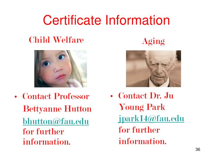 Certificate Information