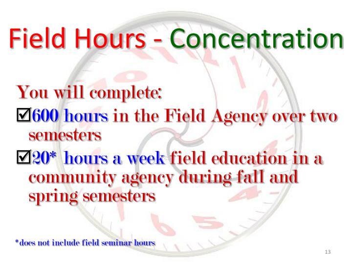 Field Hours -