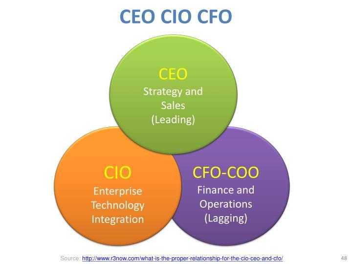 CEO CIO CFO