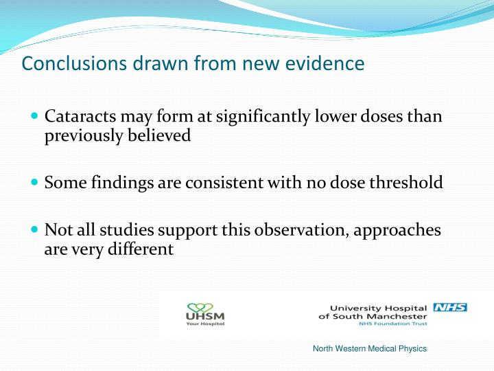 Conclusions drawn from new evidence