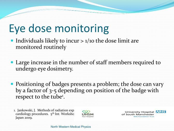 Eye dose monitoring