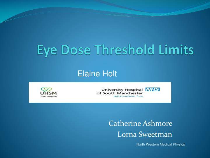 eye dose threshold limits