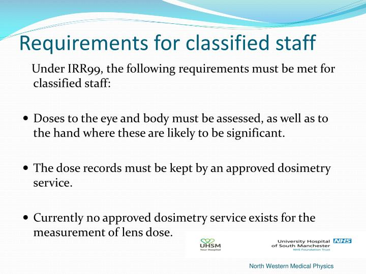 Requirements for classified staff