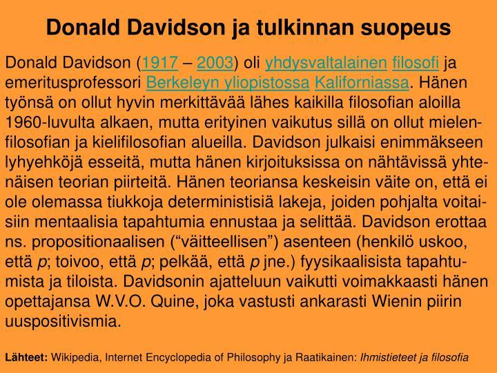 Donald Davidson (