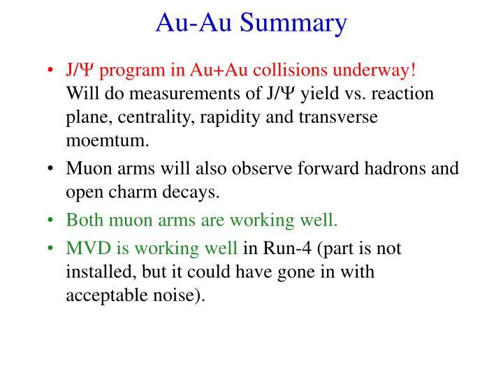 Au-Au Summary