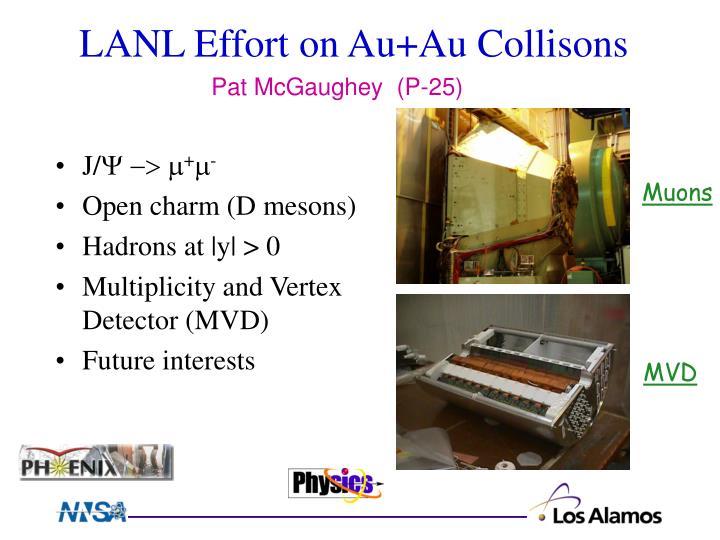 LANL Effort on Au+Au Collisons
