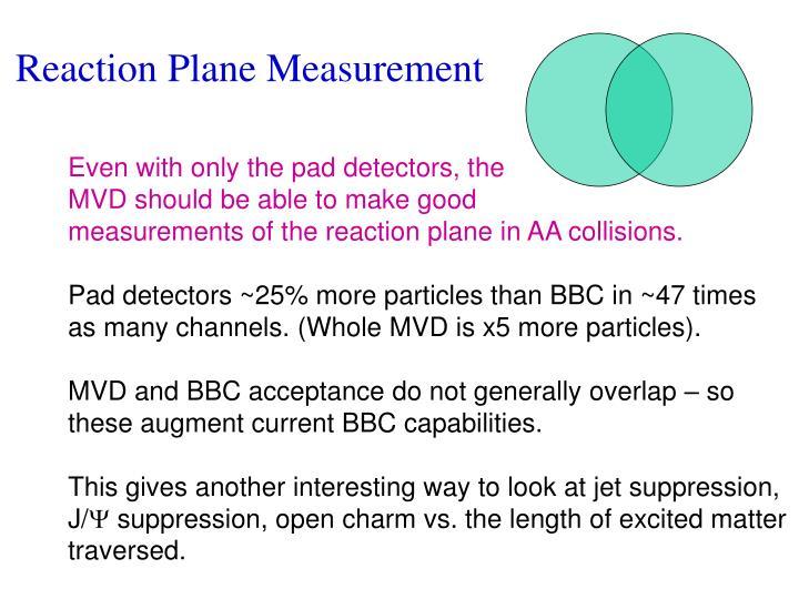 Reaction Plane Measurement