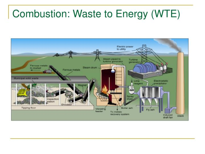 Combustion: Waste to Energy (WTE)