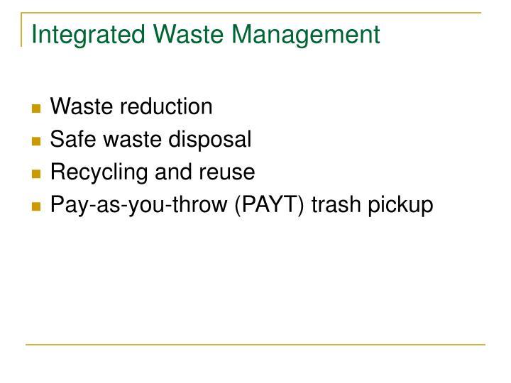 Integrated Waste Management