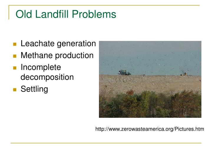 Old Landfill Problems