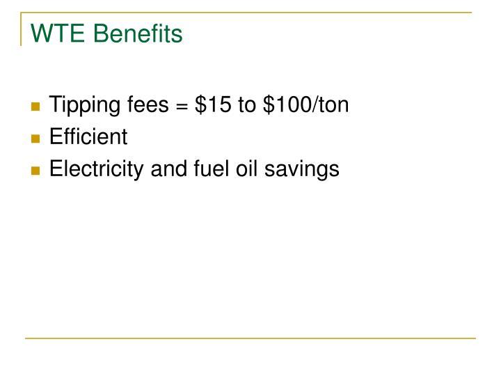 WTE Benefits