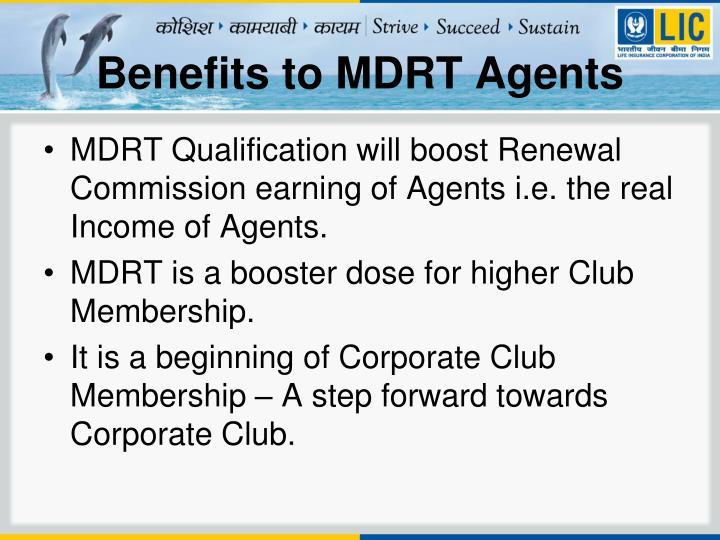 Benefits to MDRT Agents