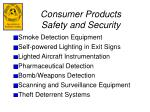 consumer products safety and security