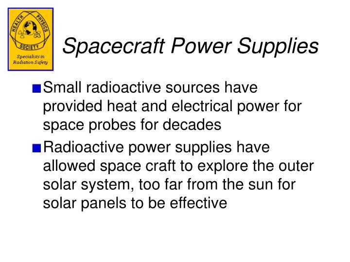 Spacecraft Power Supplies