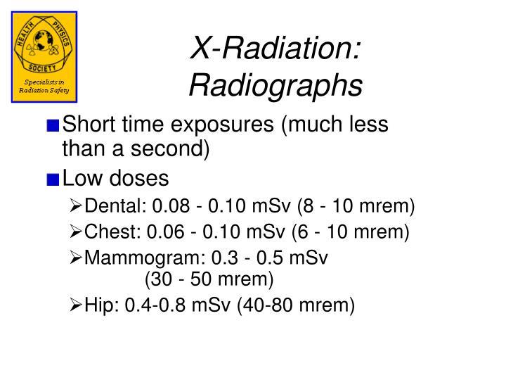 X-Radiation: