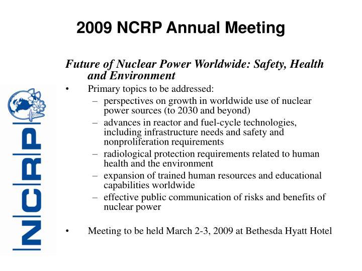 2009 NCRP Annual Meeting