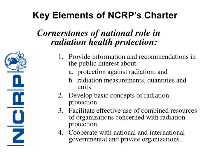 Key Elements of NCRP's Charter