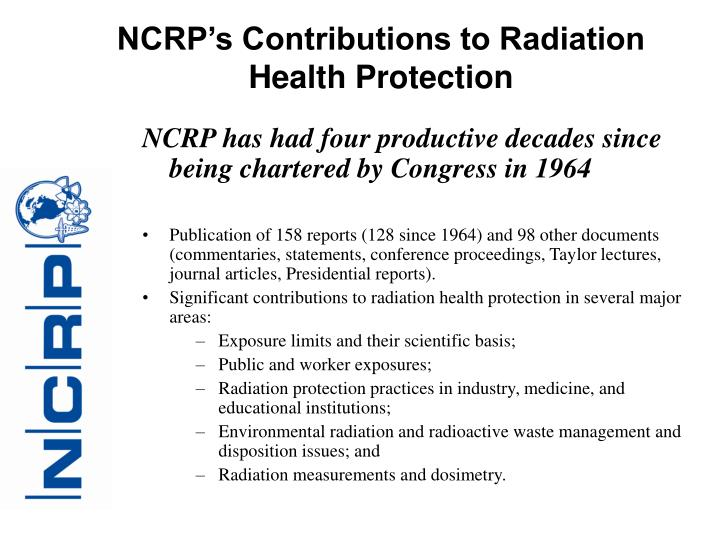 NCRP's Contributions to Radiation Health Protection