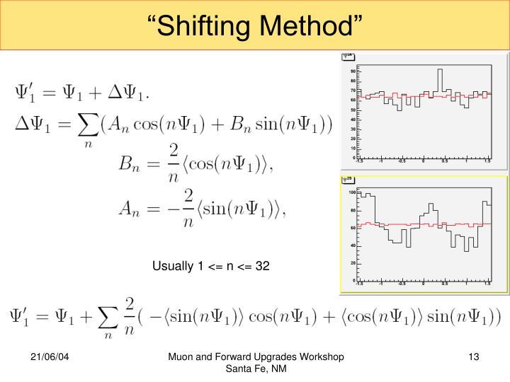 """Shifting Method"""