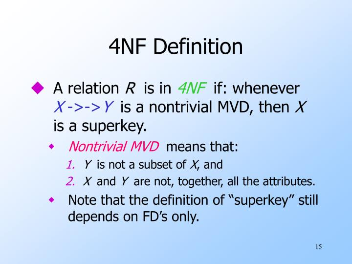 4NF Definition