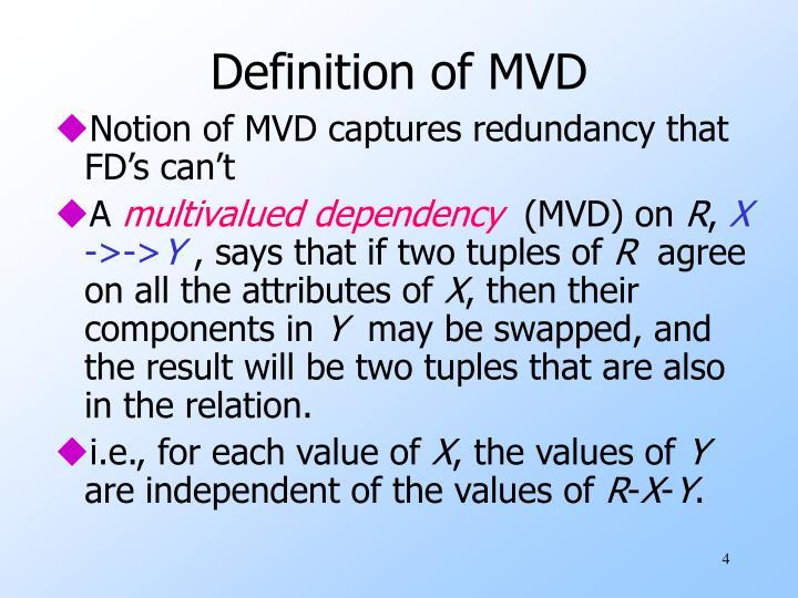 Definition of MVD