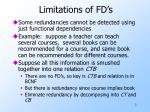 limitations of fd s