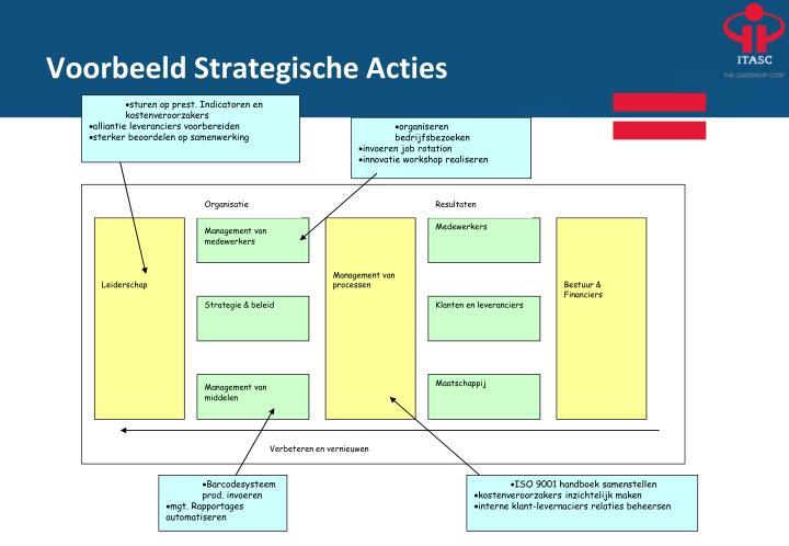 Voorbeeld Strategische Acties