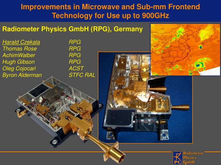 Improvements in microwave and sub mm frontend technology for use up to 900ghz