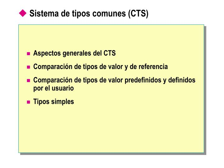 Sistema de tipos comunes (CTS)