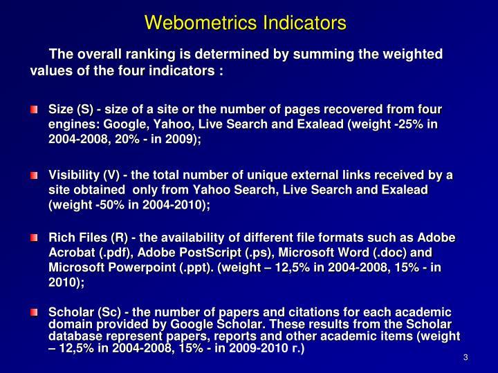 Webometrics I