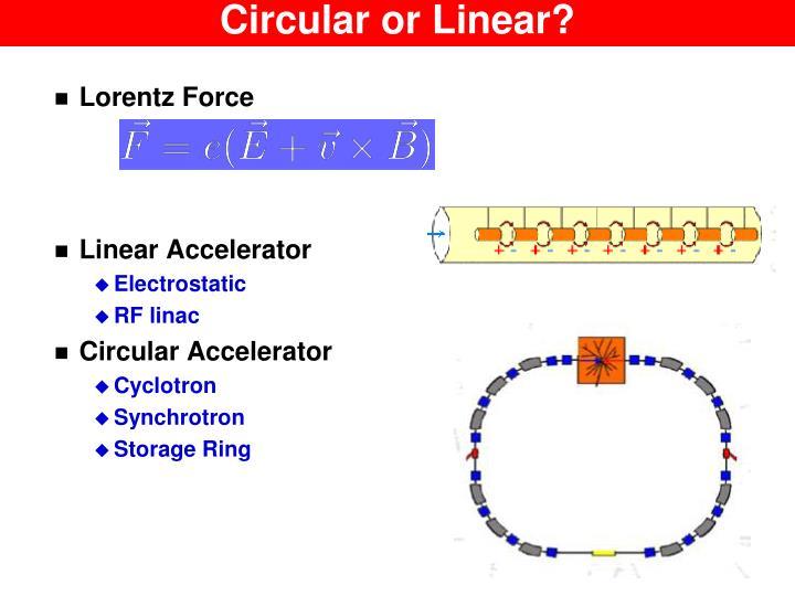 Circular or Linear?