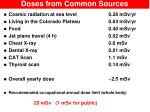 doses from common sources