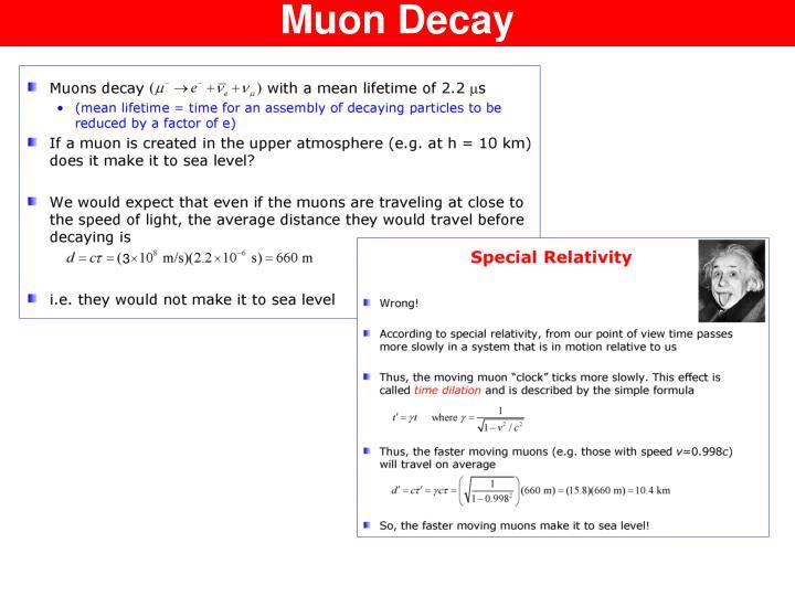 Muon Decay