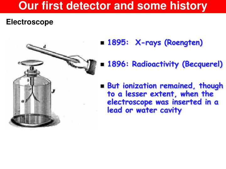 Our first detector and some history