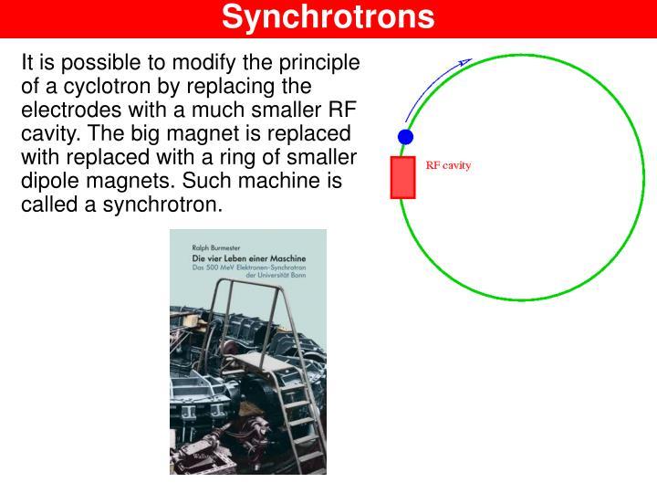 Synchrotrons