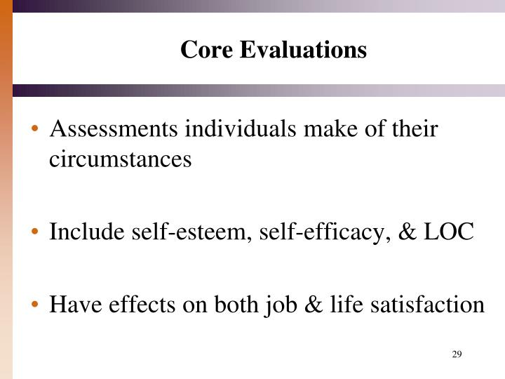 Core Evaluations