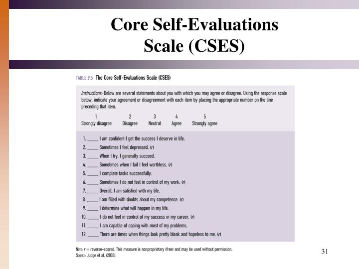 Core Self-Evaluations