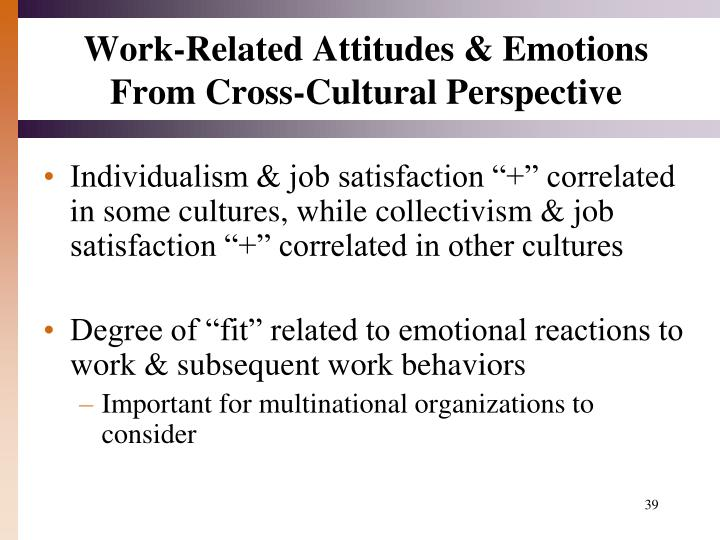 Work-Related Attitudes & Emotions From Cross-Cultural Perspective