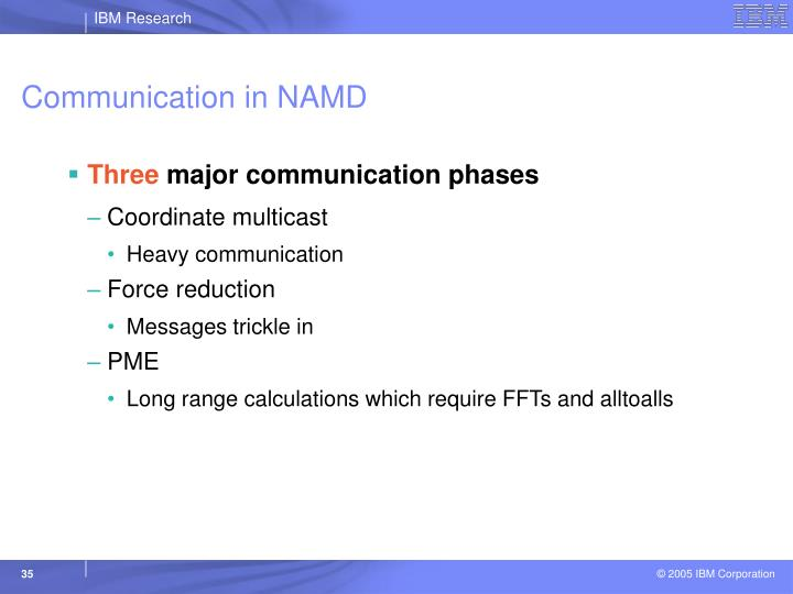 Communication in NAMD