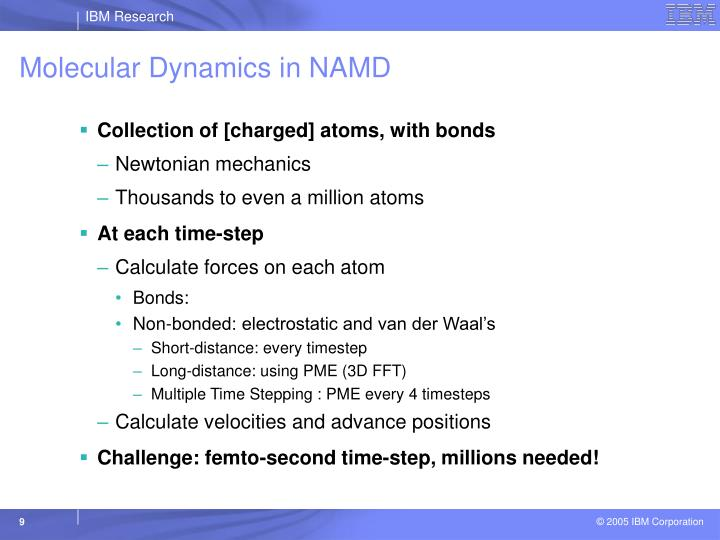 Molecular Dynamics in NAMD