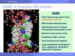 namd a production md program