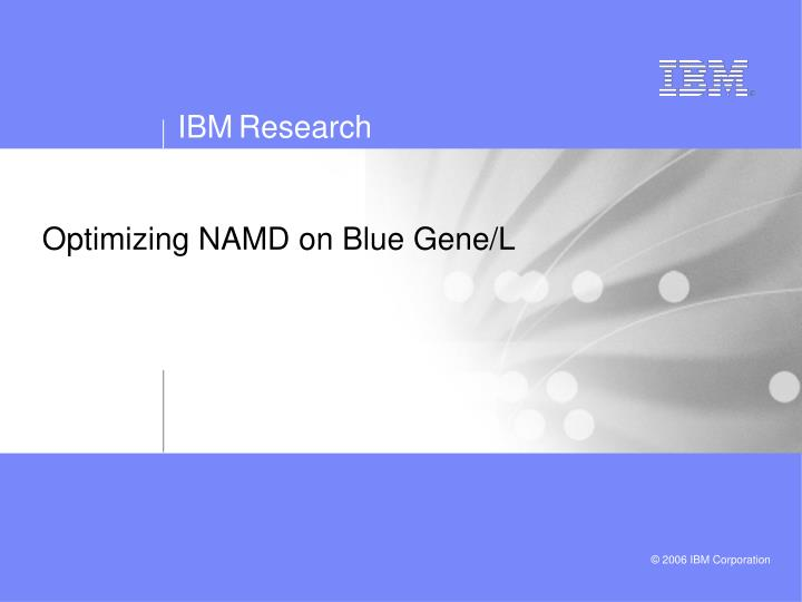 Optimizing NAMD on Blue Gene/L