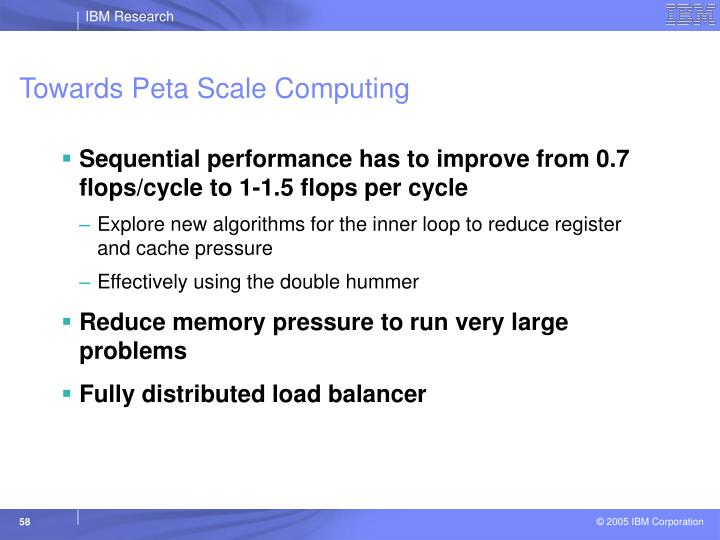 Towards Peta Scale Computing